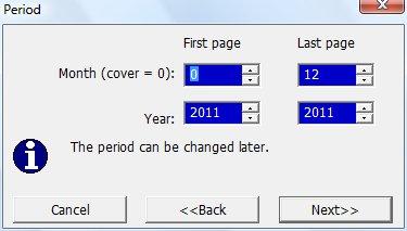 Определение года календаря и числа месяцев