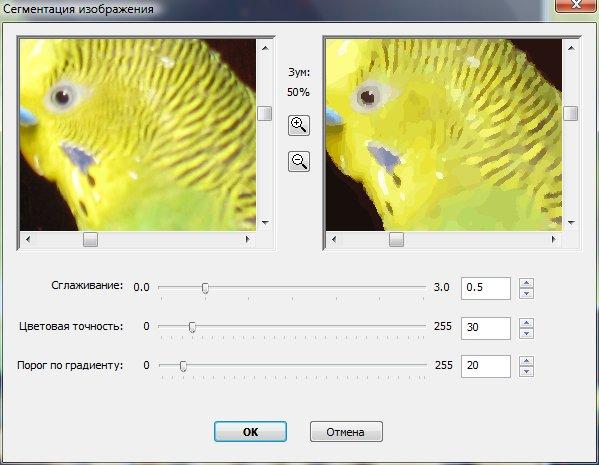 Определение параметров векторизации
