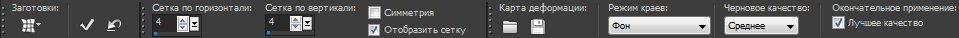 Панель опций для инструмента Mesh Warp (Сетчатое деформирование) Corel PaintShop Pro X4 автор Шитов В.Н.