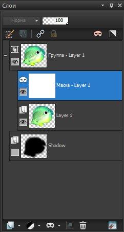 Новая маска слоя создана для слоя Layer1 Corel PaintShop Pro X4 автор Шитов В.Н.