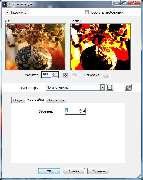 Выбор числа уровней цветов на изображении Corel PaintShop Pro X4 автор Шитов В.Н.