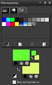 Панель Materials (Материалы). Вкладка Swatches (Образцы) Corel PaintShop Pro X4 автор Шитов Виктор Николаевич