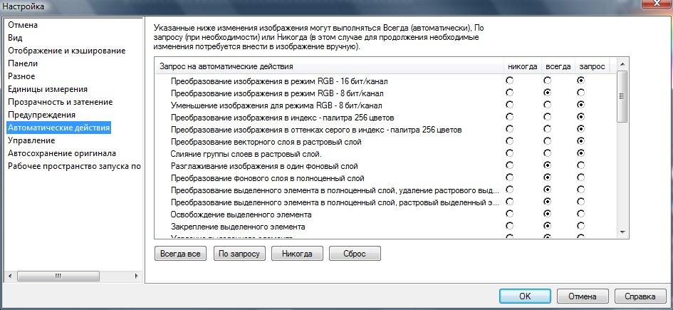 Диалоговое окно Preferences (Настройка). Вкладка Auto Action (Автоматические действия) Corel PaintShop Pro X4 автор Шитов В.Н.