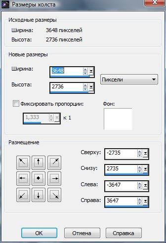 Настройка параметров холста Corel Paint Shop Pro X4 автор Шитов В.Н.