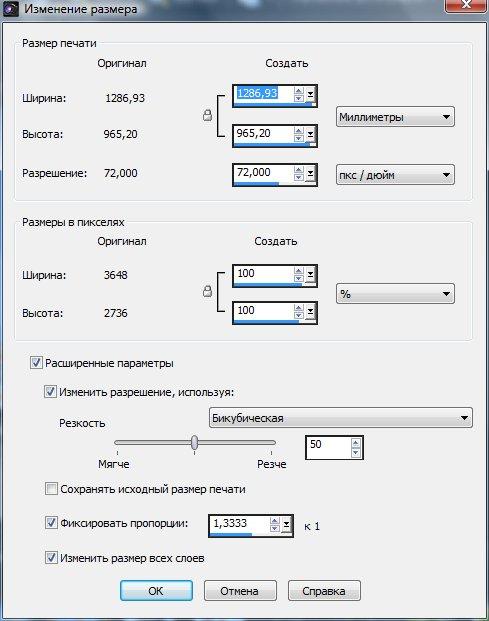Настройка параметров изображения Corel PaintShop Pro X4 автор Шитов В.Н.