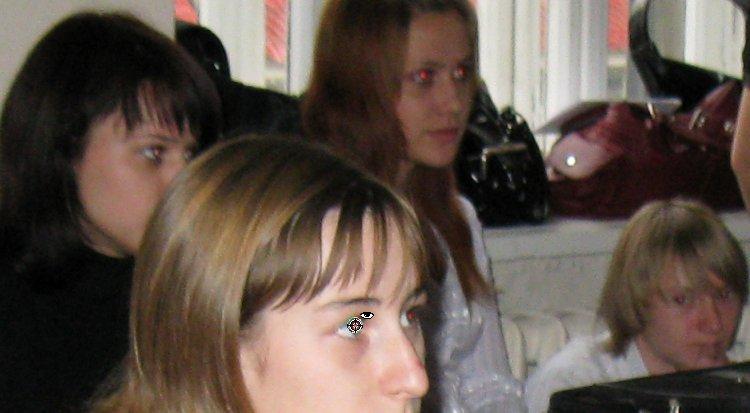 Исправление эффекта красного глаза с помощью инструмента Red Eye Tool (Эффект красных глаз) Corel PaintShop Pro X4 автор Шитов В.Н.