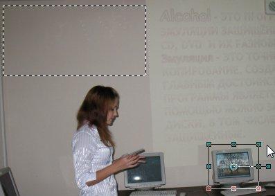 Две выделенные области на изображении Corel PaintShop Pro X4 автор Шитов В.Н.