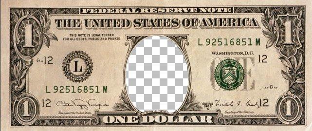 Доллар с очищенной овальной областью Corel Paint Shop Pro X4 автор Шитов В.Н.